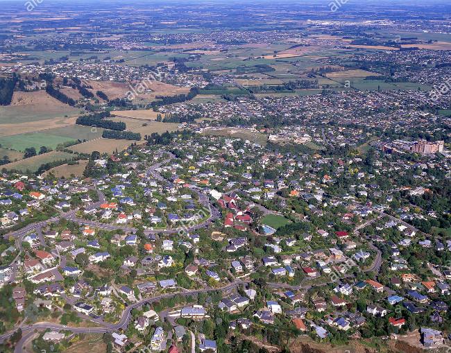 Cashmere aerial view south-west, pre Cashmere Estates build